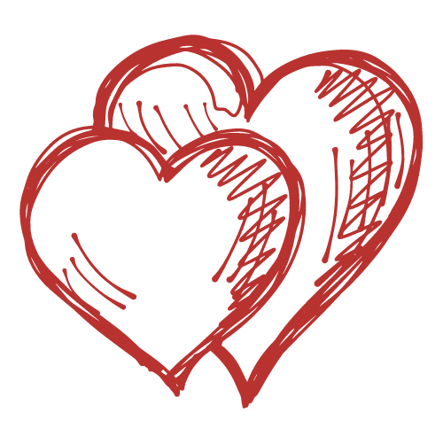 Wedding video service, hearts icon
