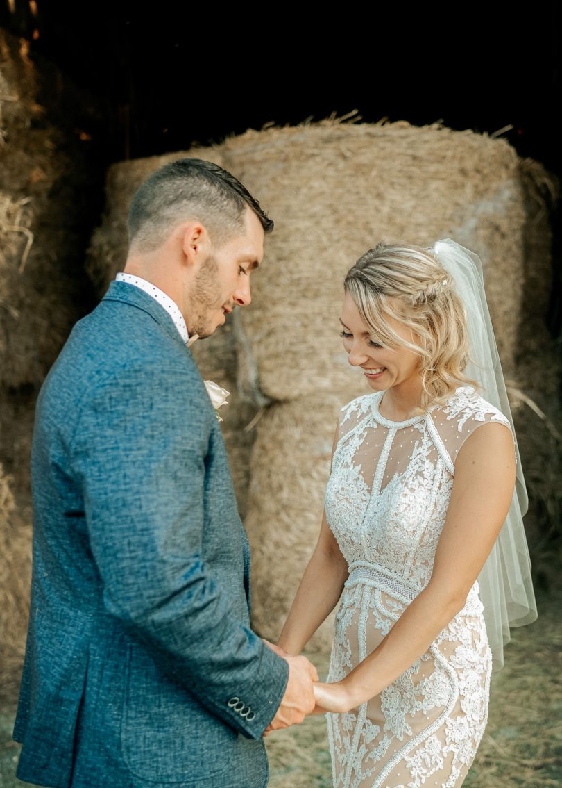 rustic farm wedding photo couple nature